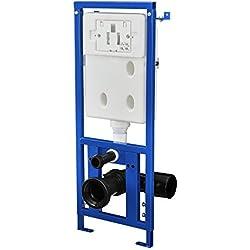 [neu.haus]® Cisterna de WC empotrada para inodoro accesorio de baño (3 / 6 l) elemento de pared
