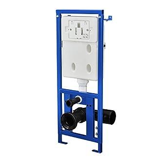 41Kbkh4b9FL. SS324  - [neu.haus]® Cisterna de WC empotrada para inodoro accesorio de baño (3 / 6 l) elemento de pared