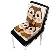Globalqi Coussin de siège Portable bébé Rehausseur Chaise Enfant Kangourou bébé Nouveau Lin imprimé Coussin de Piano