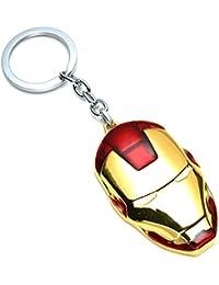 New Iron Man Face Shining Keychain Metal Keyring Pendant Key Chains Key Ring - Smart Buy