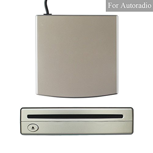 XISEDO Externes DVD Laufwerk CD/ DVD RW Burner Writer Drive DVD ROM Player External CD RW DVD RW/CD RAM/ DVD RAM Drive for Android Autoradio, Laptop, PC, Desktop Computer (Silber)