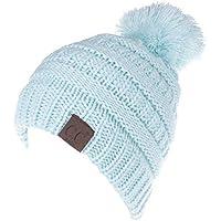 ETMAAA Herbst Und Winter Mädchen Wolle Strickmütze Baby Pullover Hut Wolle Ball Kinder Haar Ball Hut