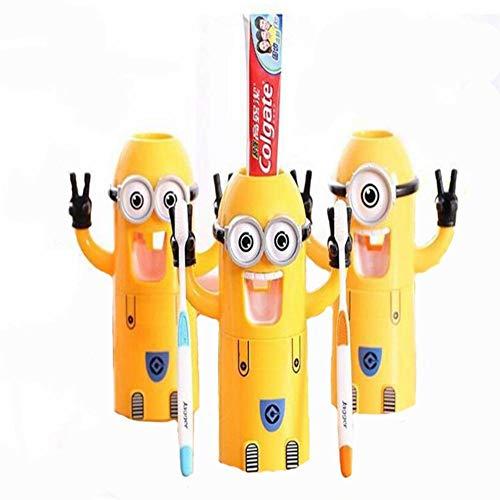 XSSA Zahnpasta, zahnbürste.Comic - gelben Mann, zahnbürste, zahnpasta, automatische und Paare, süße, Kleine gelbe - Für Männer Zahnpasta