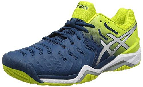 ASICS Gel-Resolution 7, Scarpe da Tennis Uomo, Blu (Ink Blue/Sulphur Spring/White), 49 EU