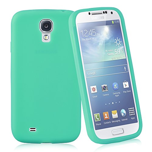 Cadorabo - TPU Silikon Schutz-Hülle (Full Body Rund-um-Schutz auch für das Display) für >                Samsung Galaxy S4                < in OXID-SCHWARZ MEER-GRÜN