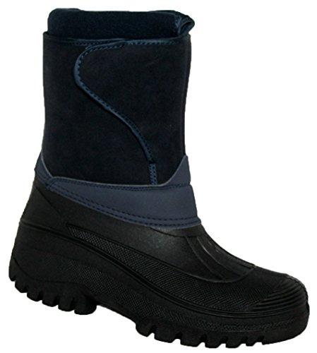 Groundword Paire de bottes imperméables et stables pour femme Bleu Marine