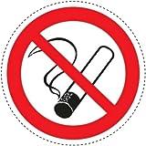 5 Aufkleber Piktogramm Rauchen verboten 10cm Ø selbstklebende Folie nach BGV A8, ASR A1.3, DIN 4844, Nichtraucher Symbol, No Smoking