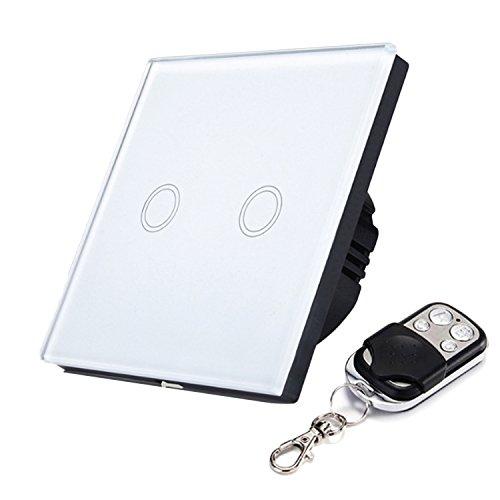 Gosear Touch Sensor Steuer Schalter Wand Panel Smart Licht Schalter EU Standard Steuer von Live Draht Zwei Weg mit Remote Steuer (Draht-standard-licht-schalter)