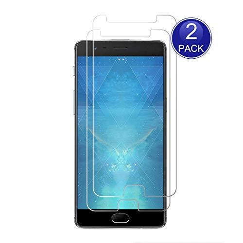 X-Dision [2 Stück Displayschutzfolie für OnePlus 3, 0,26 mm HD Schutzfolie, 9H Glas Schutzhülle, Anti-Kratz und Anti-Fingerabdruck (Hinweis: Nicht vollständig abgedeckt)