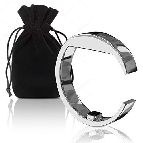 Silverback Anti Schnarch Ring Antischnarchring - In L - Akupressur Antischnarch Helfer Aus Edelstahl Mit Magnet Good Night Antischnarchmittel