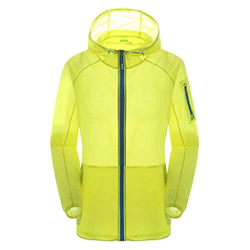 GJKK Outdoorjacke Unisex Sportjacke Quick Dry Windbreaker Coat Top Regenjacke mit Kapuze Ultraleicht Softshell Jacke wasserdichte Sonnenschutz Jacke Anti-UV Jacke Ultraleicht Dünne atmungsaktive