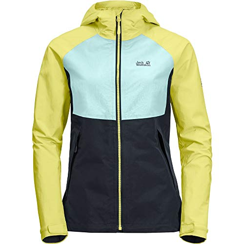 Jack Wolfskin Damen Mount ISA Jacket W Wetterschutzjacke, Lemon, M Preisvergleich