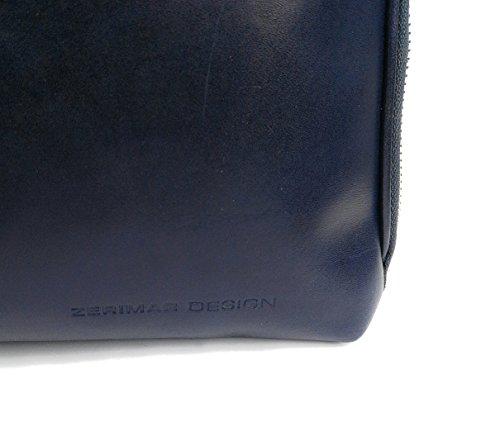 Zerimar Damen Leder Aktentasche Umhängetasche mit großer Kapazität Weiches Leder laptop leder tasche frau Tasche für Dokumente Marineblau