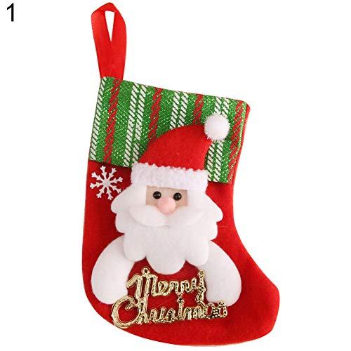 Gmgqsago calze di natale santa claus snowman kids gift candy bag xmas tree decor–1# 1#