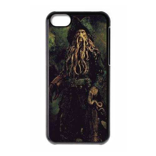 Davy Jones Pirates Of The Caribbean coque iPhone 5C Housse téléphone Noir de couverture de cas coque EBDXJKNBO13085
