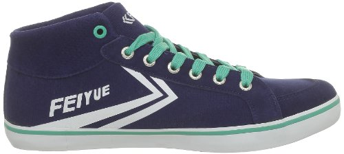 Feiyue Delta Mid Classic, Baskets mode mixte adulte Bleu (0499)