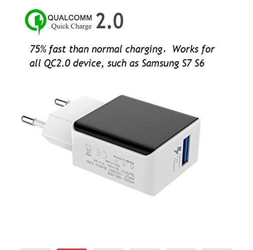 huiaynag Ladegerätusb Fast Charger Power Adapter Quick Charge 3.0 Universal Phone Wall Charger for iPhone Ipad Xiaomi Huawei Samsung Charger Universal Wall Power Adapter