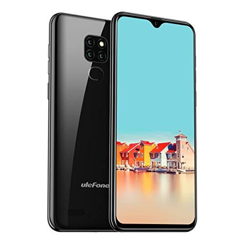Ulefone Note 7 (2019) Smartphone ohne Vertrag 3 Kameras 3 Kartensteckplatz, 6.1 Zoll Bildschirm, 16 GB ROM Dual SIM Android 8.1 Handy Günstige, Face Unlock, 3500mAh Akku, Global Version - Schwarz - 7 Handy