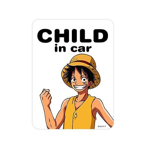 G_n_ral autocollant One Piece Monkey D Luffy New World Ver. ENFANT dans l'autocollant de voiture LCS-051 (japan import)