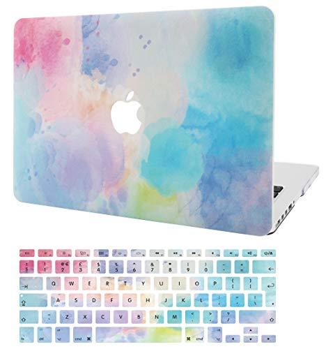KECC MacBook Pro 13 Hülle (2019/2018/2017/2016, Touch Bar) Schutzhülle Case w/EU Tastaturschutz MacBook Pro 13.3 {A1989/A1706/A1708} (Regenbogen Nebel 2) (Skins Computer Macbook Pro)