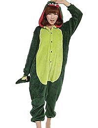 Samgu-Dinosaure animal Pyjama Cospaly Party Fleece Costume Deguisement Adulte Unisexe