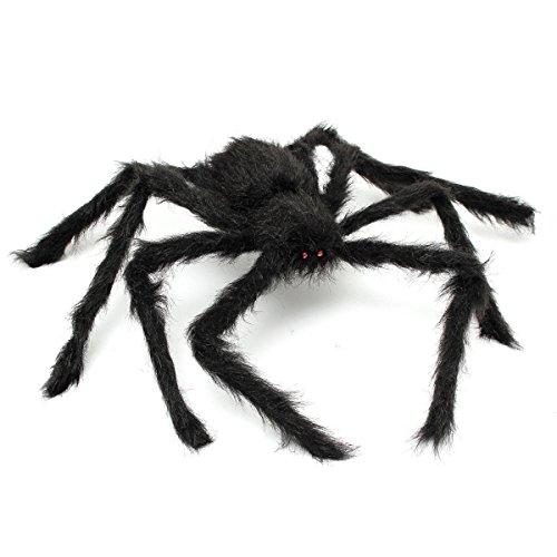 """MECO 29"""" Riesen Spinne Plüsch Spider Roten Augen Party Horror Requisiten Dekoration Spielzeug Halloween (Spinne Dekoration Riesen)"""