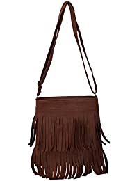 ANICKS Girls And Women Sling Shoulder Bag(Brown)