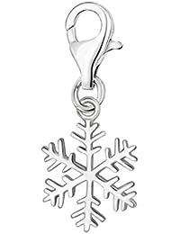 Silbernes und klares Kristall Schneeflocke Stretch Armband