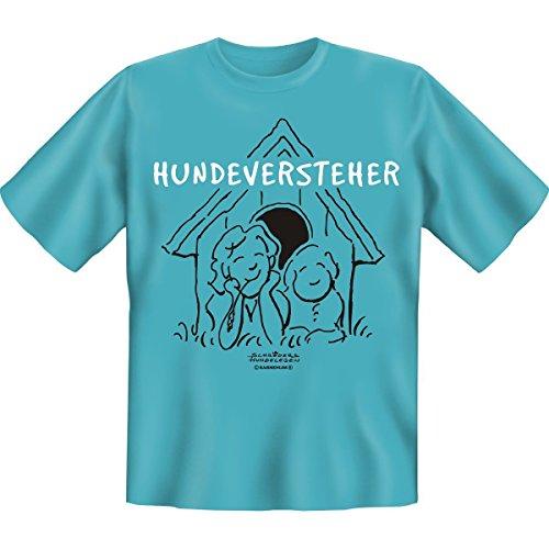 Hunderversteher -- Funshirt für den Tierfreund mit Humor!! -- Farbe: sky-blue, Grösse: XXL