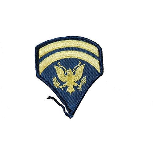 US Army/Badge/Military Rank/Sergeant/SPECIAL Corps/Tuch bestickt Patch/Replica/Sleeve Button/tollen für militärische Reenactment, Fancy Kleid/getragen von Elvis/Top Gun/10,2x 7,6cm/10x 8cm Double Sided (Überschuss Rucksäcke Armee)