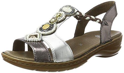 Sandalen Frauen Für 12 (ara Damen Hawaii Riemchensandalen, Grau (Silber,Street), 38 EU (5 UK))
