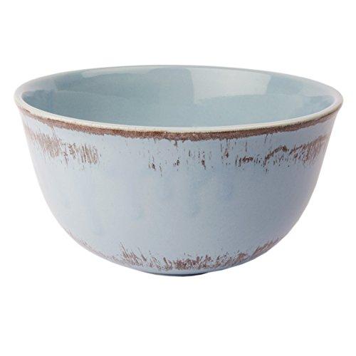 Schüssel Schale Müslischale Geschirr Keramik - Serie Tosca L Shabby Chic Landhaus (Hellblau) (Keramik-schale)