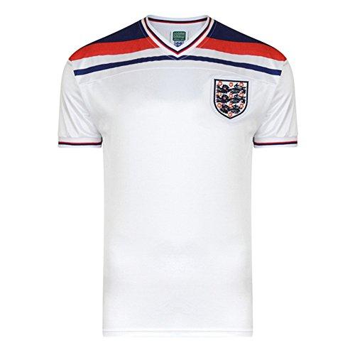 Fußball-Trikot England Weltmeisterschaft 1982 (Small) (Weiß)