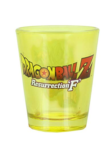 Dragon Ball Z Resurrection F Super Saiyan Goku 1.5oz Yellow Shot Glass