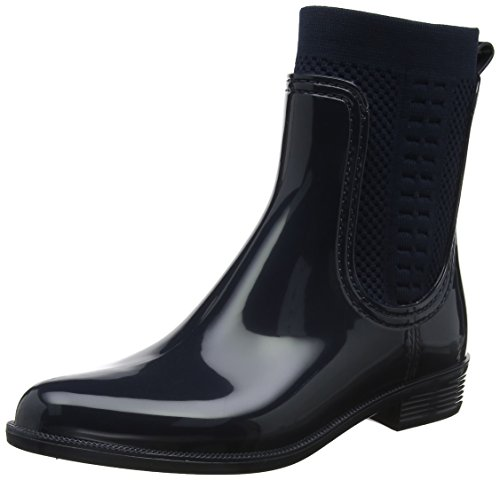 Tommy Hilfiger Damen Tommy Knit RAIN Boot Gummistiefel, Blau (Midnight 403), 37 EU