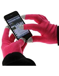Tech Touch Gloves (Hot Pink) With Silver Coated Nylon Fibre Tips for Apple iPhone 7 / 6 / 5 ,Samsung Galaxy S7 / S6 / Edge / Note/ A5 / A3, Sony Xperia Z5 / Z5 Compact, Nokia Lumia 950 / 650 / 640 / 635 and all Other Smartphones / Tablet