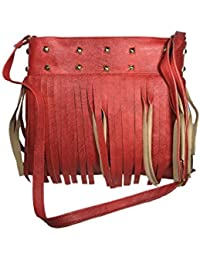 Bizarre Vogue Stylish Partywear Slingbags For Women And Girls (Adjustable Strap, Red)