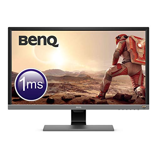 "BenQ EL2870U Monitor Gaming UHD 4K da 28"", Risoluzione 3840x2160, 1 ms, HDR, Eye-Care, Altoparlanti, HDMI/DP, Grigio Metallizzato"