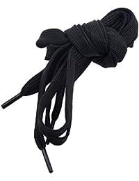 SODIAL(R) Cordones negros de Zapatillas Botas de ancho de 8mm