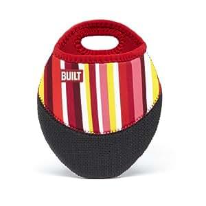 BUILT Pot Holder Stripe, Cranberry Red