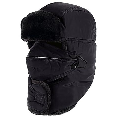 Novawo Chapeau D'hiver Pour Ski Et Cycliste Extérieur Protégeant Du Vent Et Avec Protection Du Cou Et Des Oreilles Pour Hommes Et