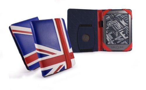 "Tuff-Luv Embrace Tasche Hülle für Amazon Kindle 4 / 6"" E-Ink - Buch Stil - Union Jack"