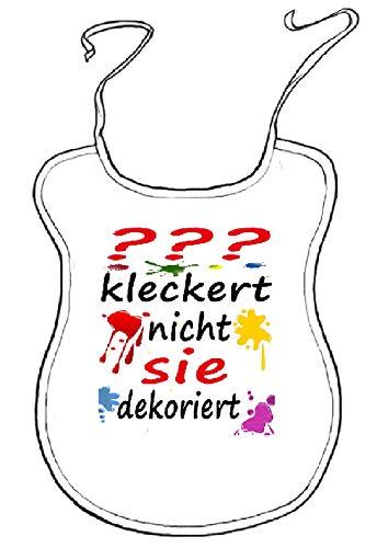 Kleckerlatz Scherz-Latz für Erwachsene Personalisierbar Ihr-Name kleckert nicht, sie dekoriert