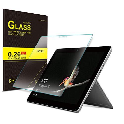 IVSO Schutzfolie für Microsoft Surface Go, 9H Härtegrad, Schutzfolie Glas Panzerfolie Bildschirmfolie Bildschirmschutzfolie für Microsoft Surface Go 10 Zoll, (1 x)