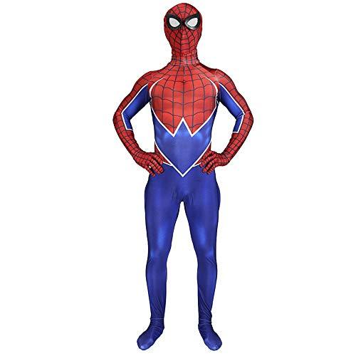 QQWE Spiderman Kostüm PS4 Rock Punk Spider-Man Cosplay Body Jumpsuits Kostüm Party Kostüm - Punk Rock Weibliche Kostüm
