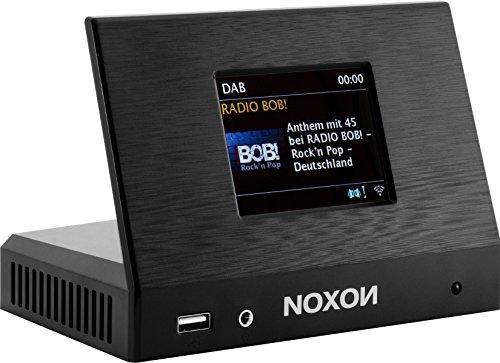 Noxon 17500 A110 Plus Internet Radio für HiFi System (8,13cm (3,2 Zoll) TFT Farb Display, WLAN/LAN, DAB/DAB Plus, UKW, Bluetooth,Fernbedienung, USB) schwarz