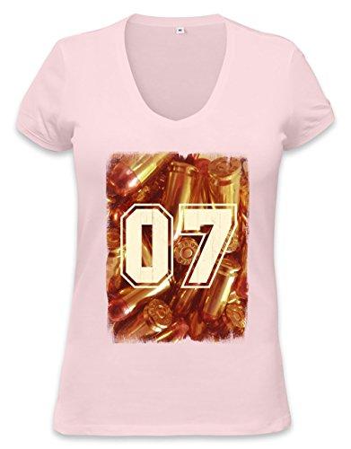 Swaggy golden agent 07 Womens V-neck T-shirt XX-Large (07 T-shirt Womens)
