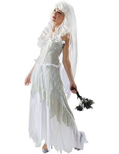 Meine Damen Geisterhaften Halloween Braut Karneval Fasching Kostüm Extra Large