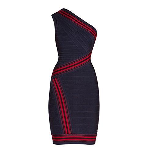 HLBCBG Damen Kleid rot rot 36 Blau