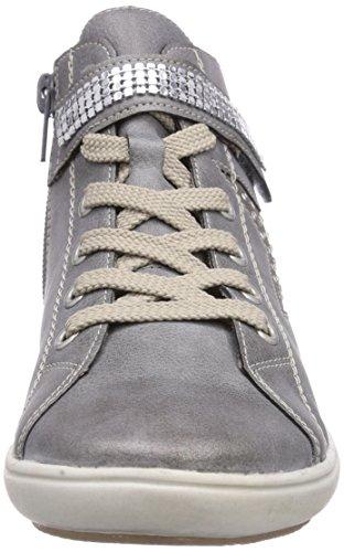 Rieker Kinder - K3080, Scarpe da ginnastica Bambina Grigio (Grey/staub/argento / 40)